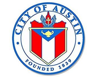 ROUND City of Austin Texas Seal (tx limits logo)
