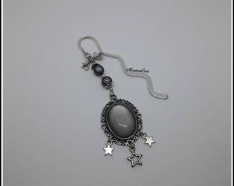 Bookmark cabochon gray jewelry