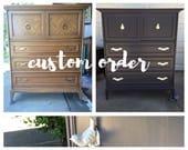 """Custom Order - Dixie Chevron 70"""" Dresser"""