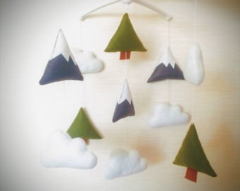 Baby mobile-fox baby mobile-woodland baby mobile-forest baby mobile