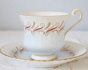 Vintage Paragon Bone China Cup and Saucer, Gentleman Size, England