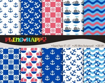 70% OFF Nautical Anchor Digital Papers, Nautical Anchor Digital Papers Graphics, Personal & Small Commercial Use, Instant Download
