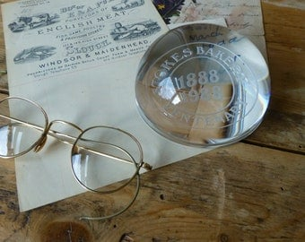 Vintage Boxed Paperweight - Stokes Bakery, Wootton-Under-Edge Centenary 1888-1988
