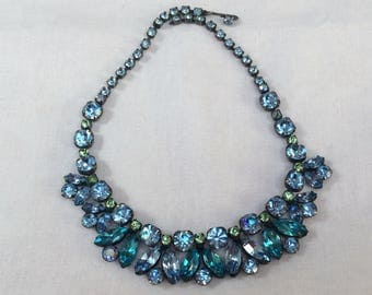 Fabulous Regency necklace - signed - glorious summer colours that dazzle