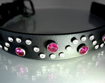 Swarovski Crystal Dog Collar for Large Dogs, Big Dog Bling, Crystal Dog Collar that is Comfy, Durable, Secure, and Waterproof