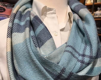 Handwoven Wool and Silk Cowl