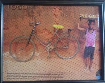 Picture Frame Earring Holder, Togo Background