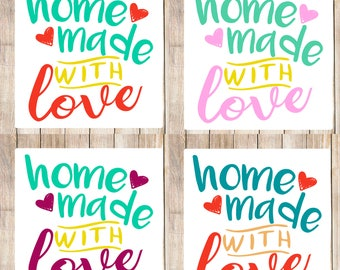Home made with love,home made with love labels,home made with love,home made labels,stickers, custom labels, home made with love sticker