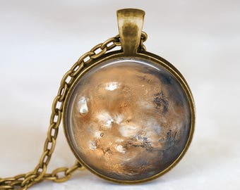 Mars  -  Space Planets Handmade Pendant Necklace