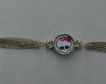 steel chunk bracelet skull, skulls