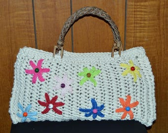 bag with beaded shawls