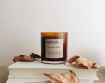 PUMPKIN CHAI • candle, pumpkin candle, fall candle, fall scent, soy candle