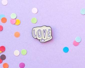 Love enamel pin