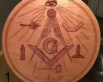 Masonic trowel etsy slotted 7 basket base 12 thick masonic compass all pronofoot35fo Images
