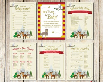 Magical Woodland Baby Shower Games, Woodland Creatures Baby Shower Games,  Great For A Woodland