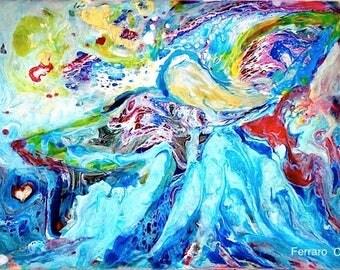 Angel art- Original Angel painting- 'Angel Essence 6'