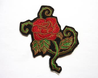 Rose (flower) badge patch embroidered patch