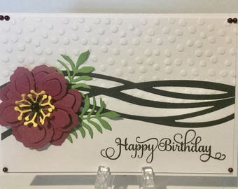 Handmade birthday card for woman.