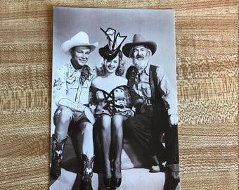 Vintage Roy Rogers Postcard