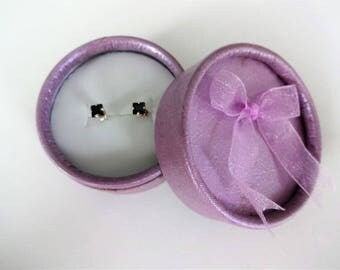 Boucles d'oreilles en argent d'Obsidienne  ***Expédition gratuite au Canada **Free shipping to Canada