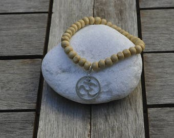 Om Bracelet and wooden beads