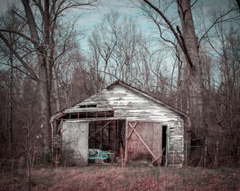 OOAK Abandoned Rural Kentucky Barn Shed Derelict Decay Photograph Print