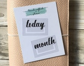 CUSTOMISABLE  Today / Month Bookmark / Clip / Planner Tab