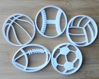 Sports Ball 3D Printed Cookie Cutters | Soccer, Football, Basketball, Volleyball, Baseball | Choose your cutter