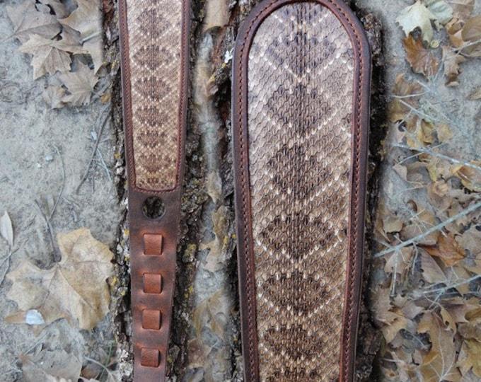 Rattlesnake Rifle Sling, Snake Skin, Buffalo Rattlesnake Rifle Sling