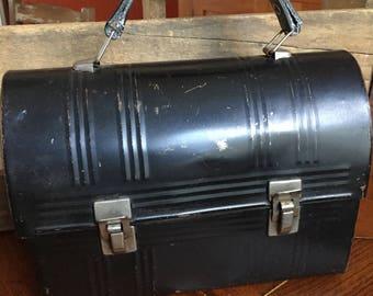 Vintage Black Metal Lunchbox