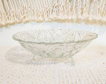 Ornate Glass Bowl with Feet