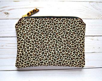 Ready to ship cheetah pouch, cheetah bag, cheetah clutch, cheetah pouch, leopard clutch, leopard bag, leopard purse, leopard pouch, pouch