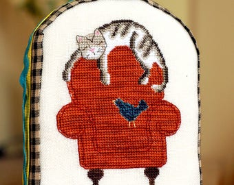 Whiskers & Beau – Lazy Afternoon Friends Cross Stitch Pattern