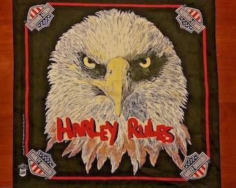 Vintage Harley Davidson Eagle Bandana Black