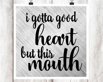 Good Heart but this Mouth SVG/DXF/EPS file