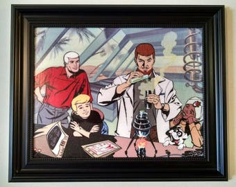 JONNY QUEST - 11 x 14 canvas transfer print - Saturday morning classic