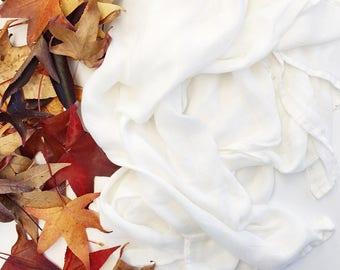 Bamboo Muslin Swaddle Blanket - White