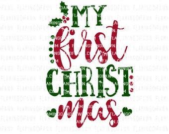 Christmas svg cut files, 1st christmas svg, Christmas svg, first christmas svg, christmas tree svg, svg christmas, Christmas baby svg