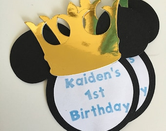 Prince Mickey Mouse Inspired Gift Tags