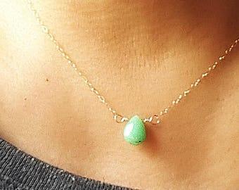 Chrysoprase Necklace,August Birthstone Necklace, Mint Green Gemstone necklace,Chrysoprase jewelry,Green gemstone necklace