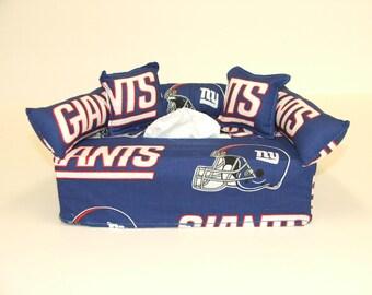 New York Giants NFL Licensed fabric tissue box cover.