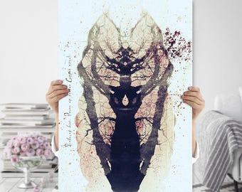 Rorschach, Tree, Printable | Abstract, Modern, Meditation, Mindfulness Art