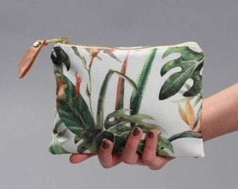 Purse, Wallets, coin holder, Gifts For Her, Tropical Purse, lagut, lagut shop, handmade, clutch bag, casual, leather detail, tropical design