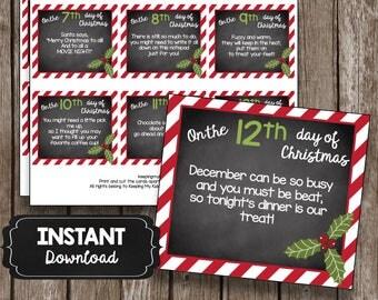 12 days christmas teachers gift ideas