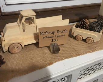 Pick-up truck with trailer