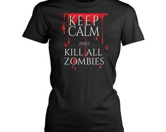 Zombies womens fit T-Shirt. Funny Zombies shirt.