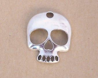 skull skull skeleton skull skull Anatomy human Gothic silver 35x30mm