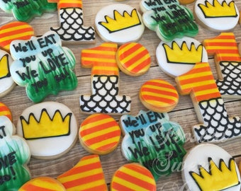 2 doz Wild Things Rumpus Birthday Cookies