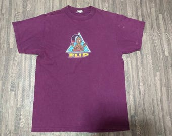 Vintage Flip Skateboard T-Shirt Men Size M