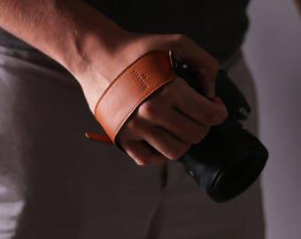 Adjustable Leather Camera Wrist Strap | Leather Camera Grip Strap for DSLR, SLR & vintage cameras.